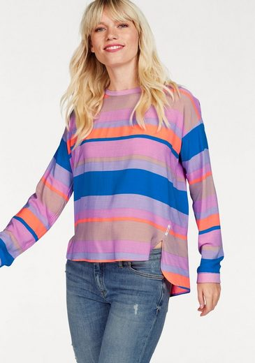 Marc Opolo Denim Blouses Shirt, In A Trendy Striped Look