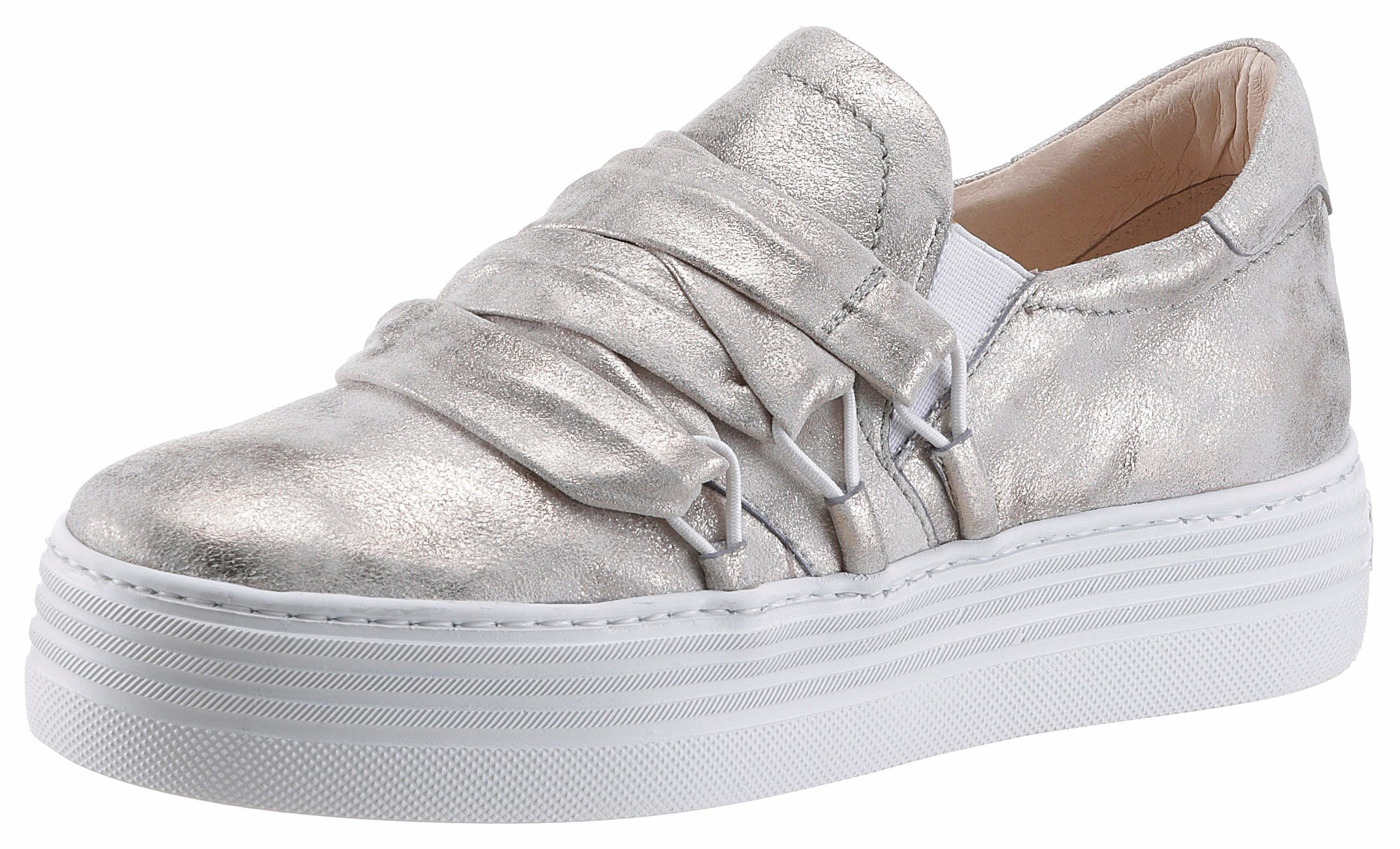 Arizona Plateausneaker, im Metallic-Look, silber, 38 38