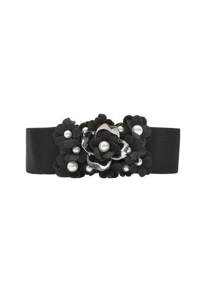 HALLHUBER Stretchgürtel mit 3D-Blüten - Preisvergleich