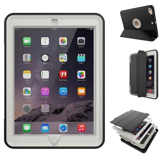 Wigento Tablet-Hülle »Mehrteilige Hybrid Outdoor Schutzhülle Case Grau für Apple iPad Pro 12.9 Tasche Wake UP 3folt«