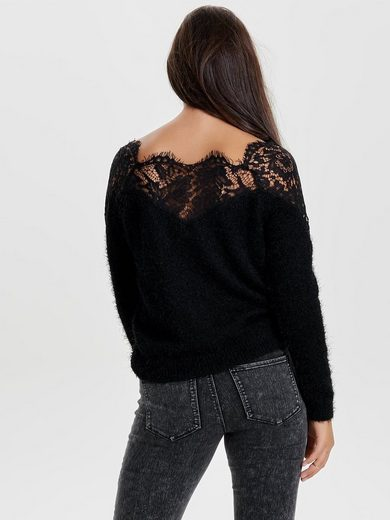 Only Spitzen Strickpullover