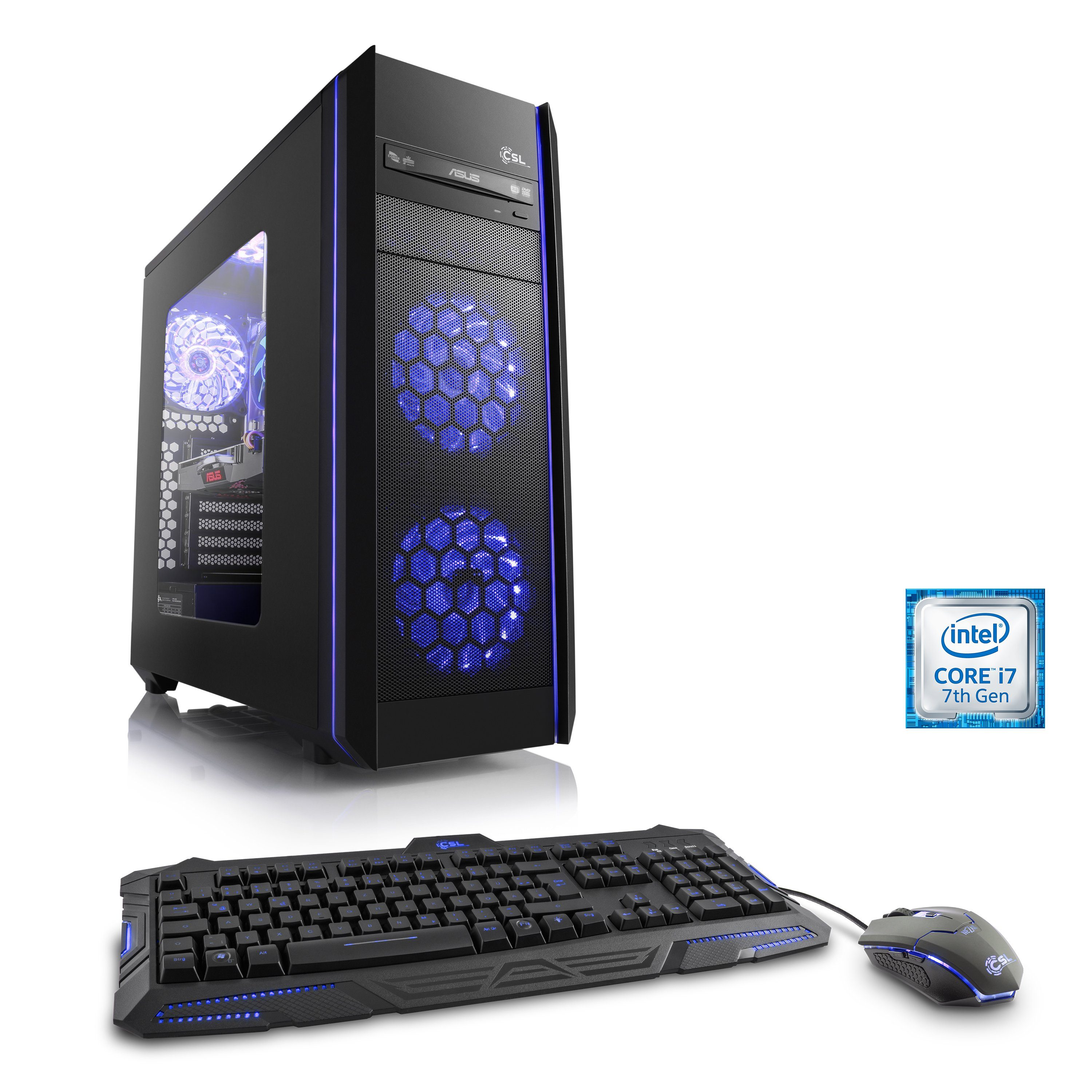 CSL Gaming PC | Core i7-7700 | GeForce GTX 1060 | 16 GB RAM »Speed T7641 Intel Optane«