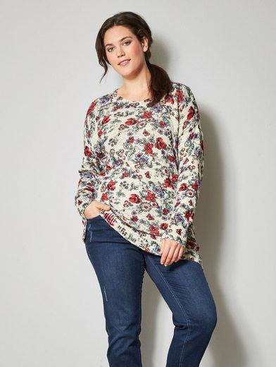 Janet und Joyce by Happy Size Pullover mit Blumen-Print