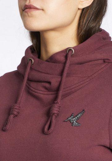 khujo Kapuzensweatshirt MOANA, mit Logo-Aufnäher