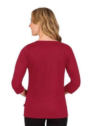TRIGEMA 3/4 Arm Shirt mit Glitzersteinen