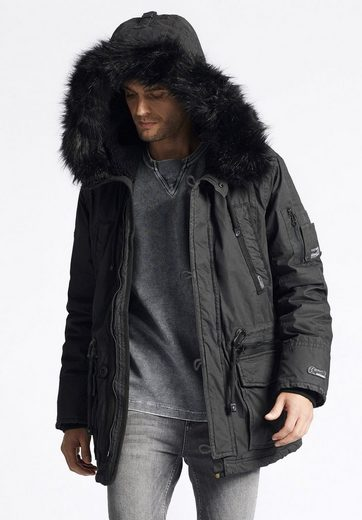 Khujo Winterjacke Interference With Detachable Faux Fur On The Hood
