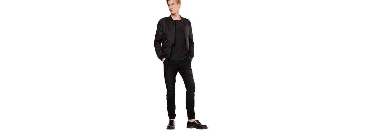 URBAN CLASSICS Tapered-fit-Jeans Knitted Denim Jogpants, Bund mit Tunnelzug