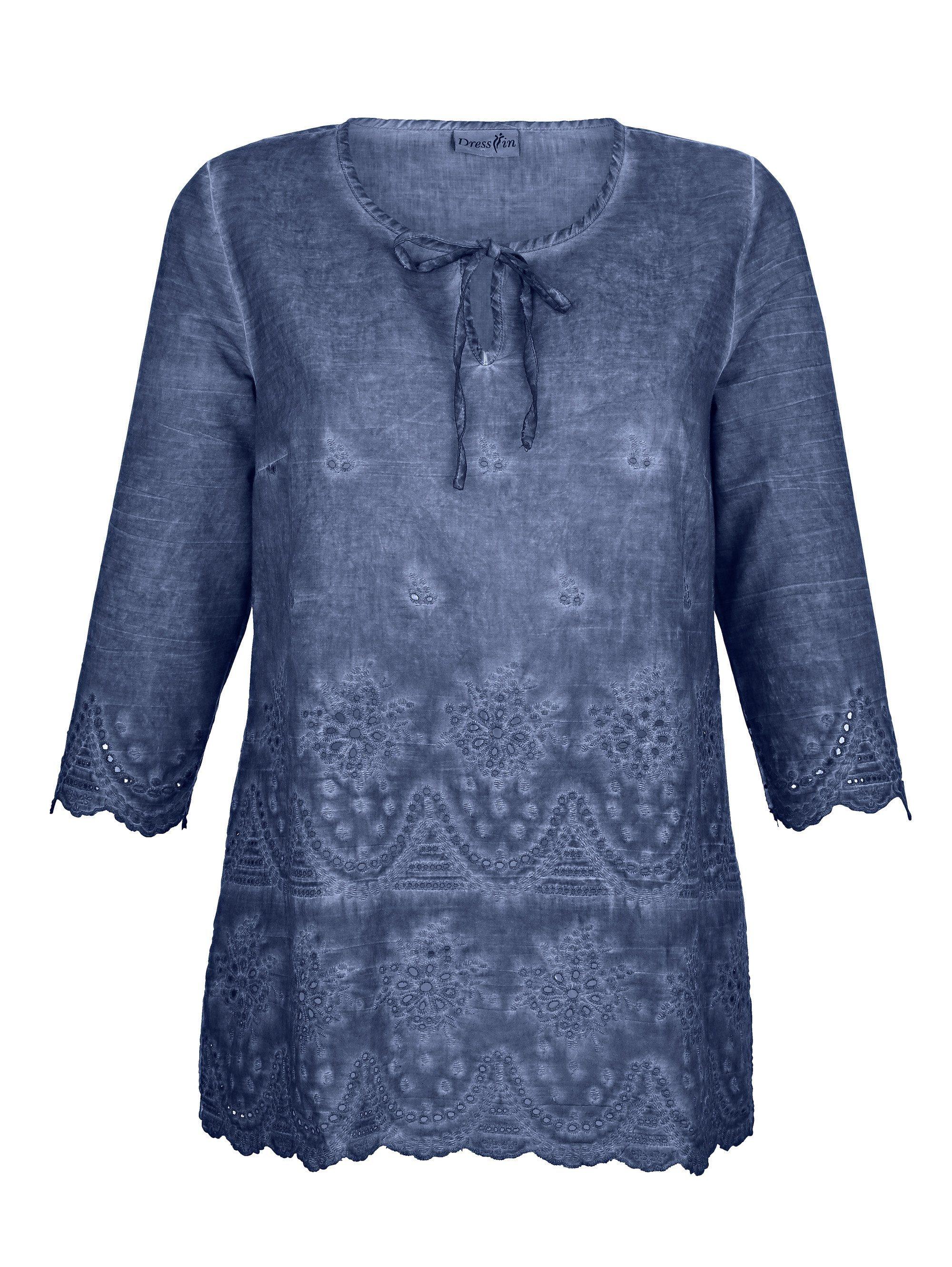 Dress In Tunika mit Lochstickerei | Bekleidung > Tuniken > Sonstige Tuniken | Baumwolle | Dress In
