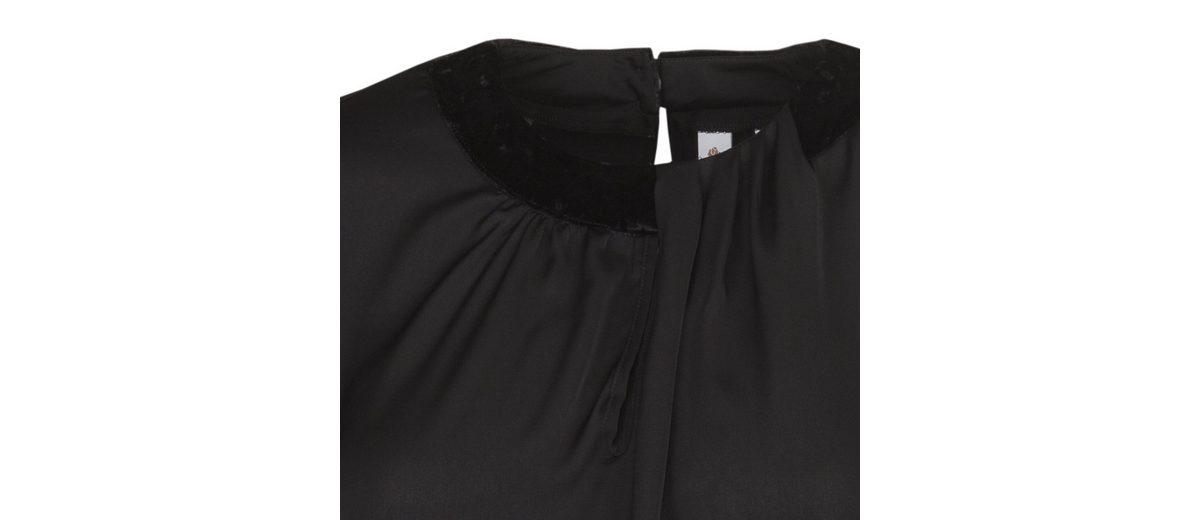 seidensticker Rose seidensticker Rundhals Shirtbluse Schwarze Shirtbluse 5wvqI8x