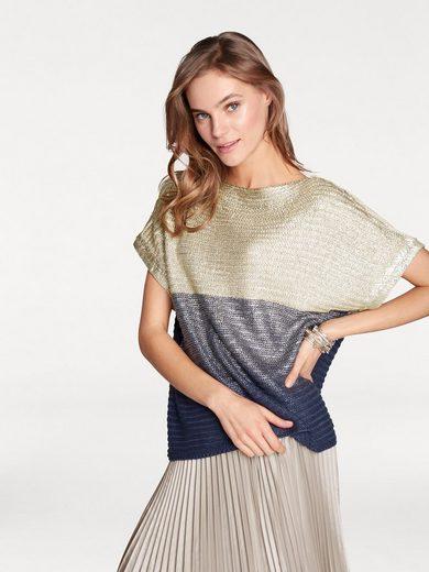 RICK CARDONA by Heine Oversized-Pullover mit Metallic Effekt im Vorderteil