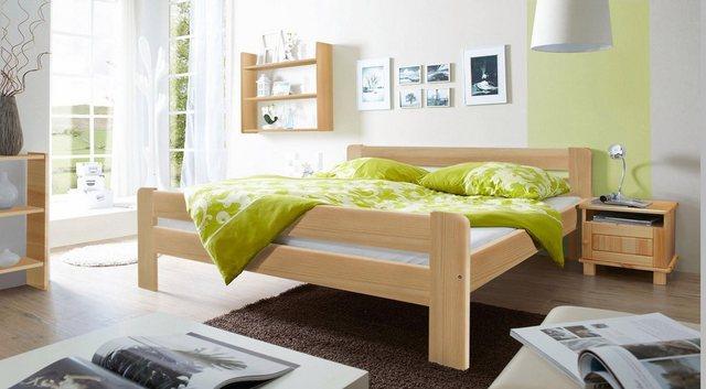 Ticaa Massivholzbett »Bert«  in diversen Breiten  Kiefer   Schlafzimmer > Betten > Massivholzbetten   Ticaa