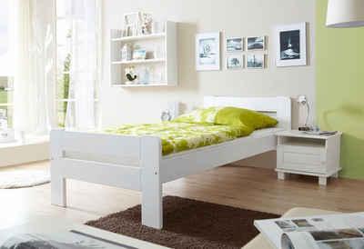 Einzelbett weiß 100x200  Bett 100x200 cm online kaufen » Bettgestell | OTTO