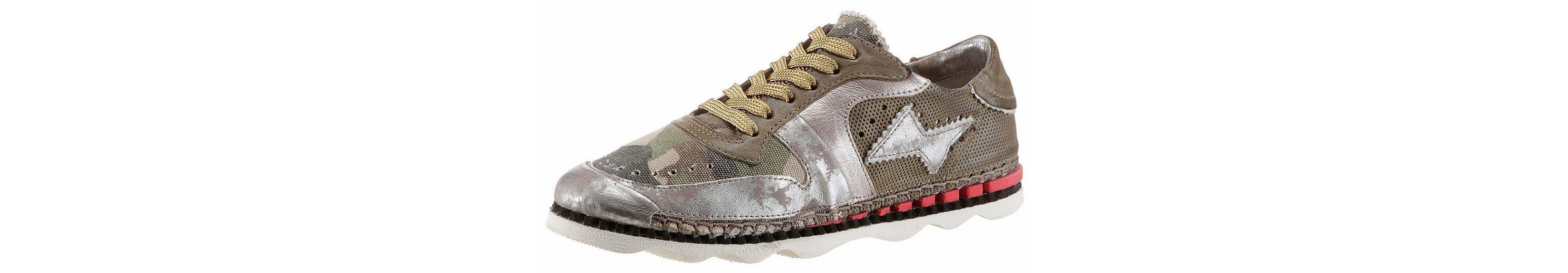 A.S.98 Sneaker, mit farbigem Textileinsatz