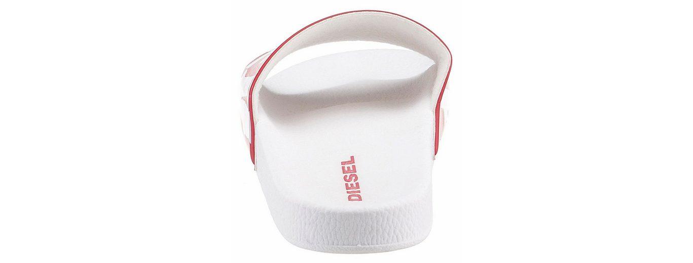Diesel S-Lohaa Sa-Maral W Pantolette, mit bedruckter, breiter Bandage