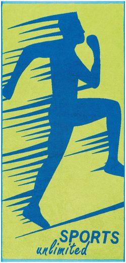 Egeria Strandtuch »Sports Unlimited« (1-St), mit Kordelaufhänger