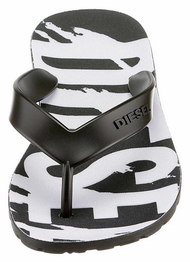 Diesel Plaja Splish W Toe Separators, With Plakativem Printed Logo