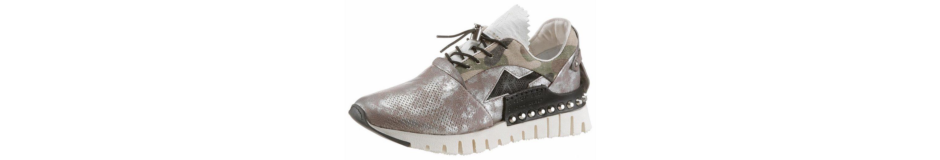 A.S.98 Sneaker, mit Textileinsatz im Camouflage Design