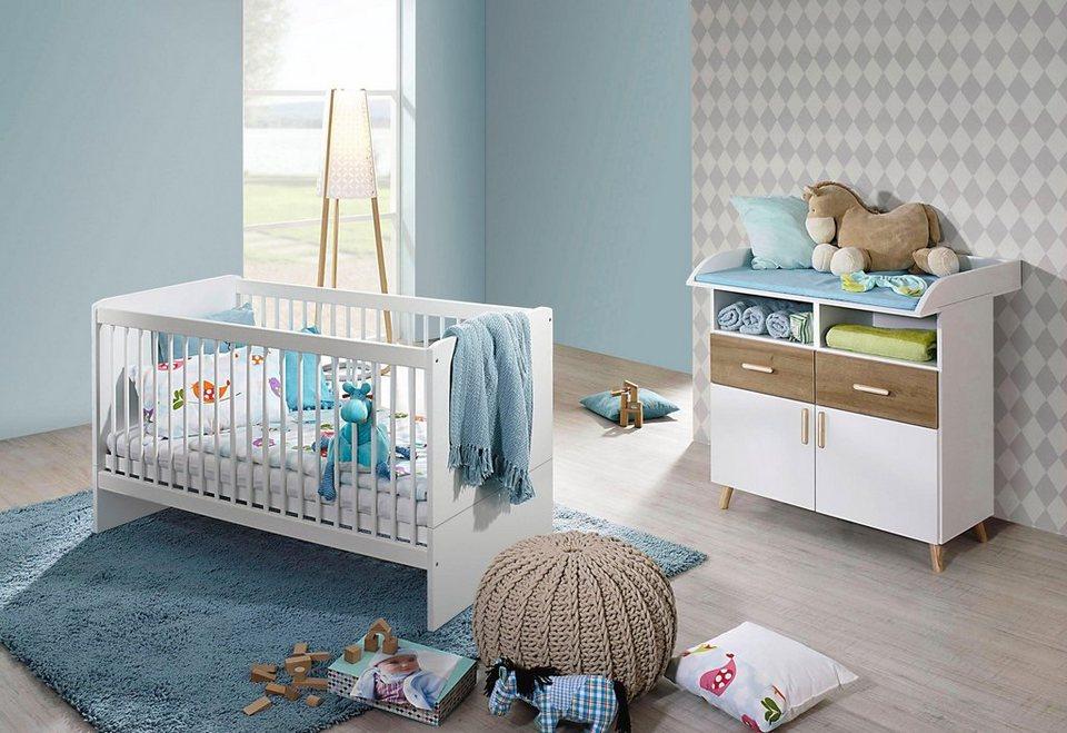 Babyzimmer spar set potsdam babybett wickelkommode 2 - Otto babyzimmer ...