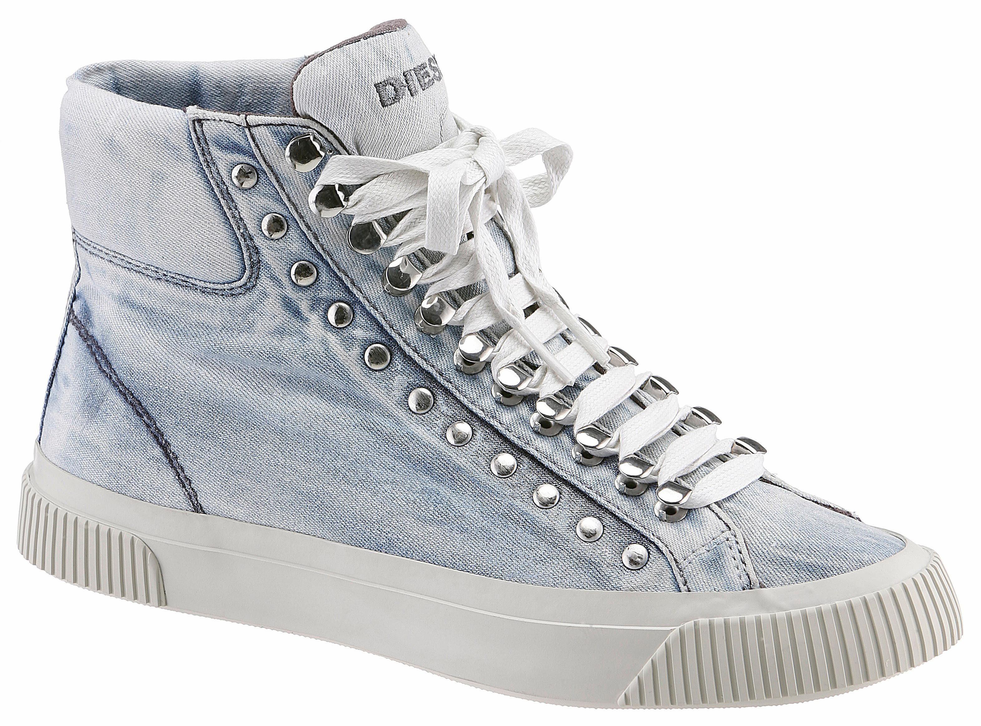 Diesel S-Mustave MC W Sneaker, in lässigem Used-Style online kaufen  jeansblau