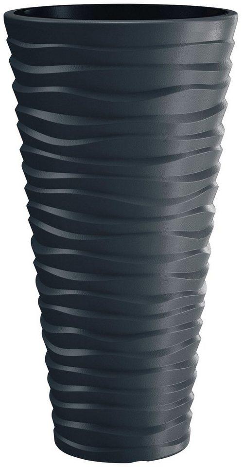 PROSPERPLAST Pflanzkübel »Sand slim«, ØxHöhe: 39x75 cm, anthrazit   Dekoration > Dekopflanzen > Pflanzenkübel   Grau   Prosperplast
