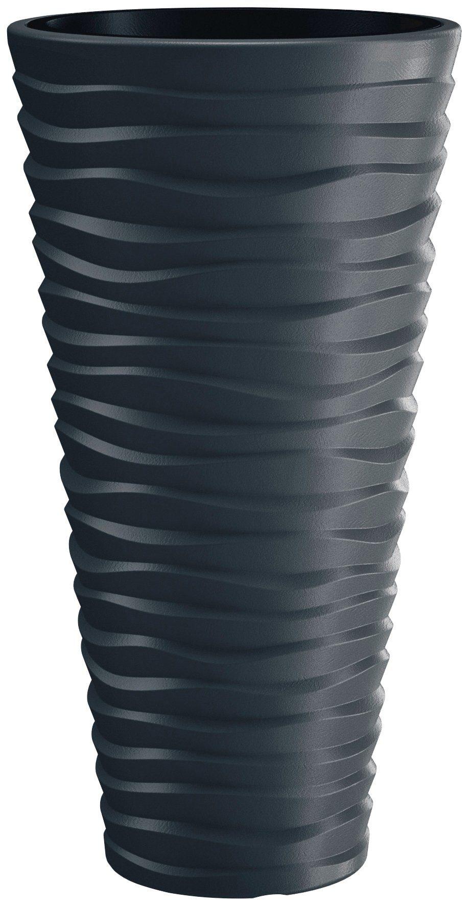 PROSPERPLAST Pflanzkübel »Sand slim«, ØxHöhe: 39x75 cm, anthrazit