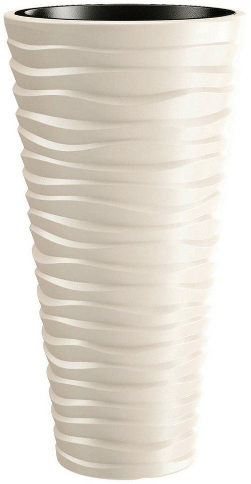 PROSPERPLAST Pflanzkübel »Sand slim«, ØxHöhe: 39x75 cm, creme online ...