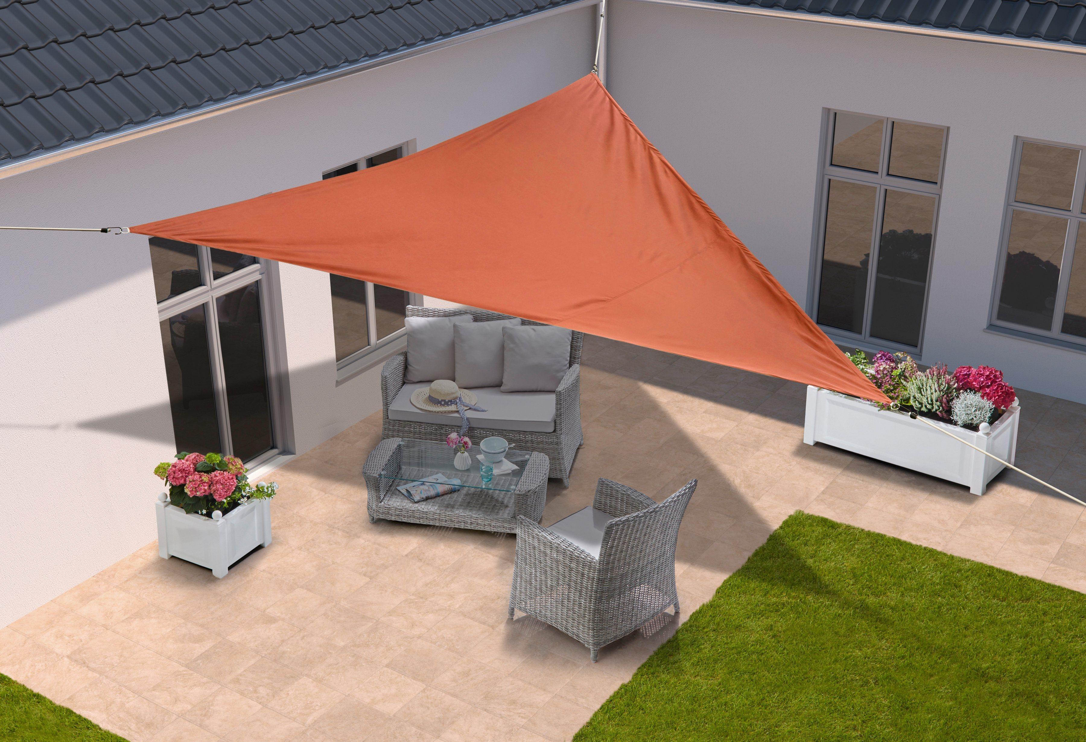 KONIFERA Sonnensegel »Dreieck«, 360x360x360 cm, in 4 Farben | Garten > Sonnenschirme und Markisen > Sonnensegel | Polyester | KONIFERA