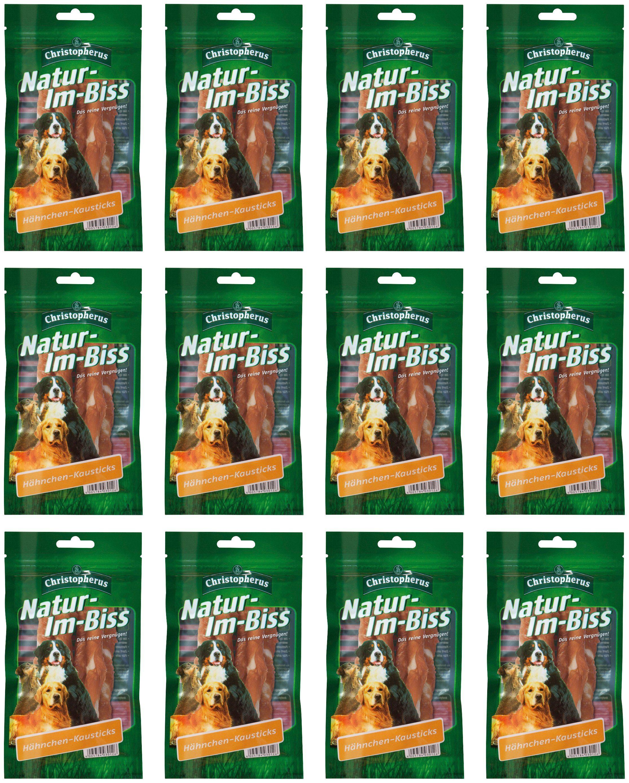 CHRISTOPHERUS Hundesnack »Hähnchenkausticks«, 12 x 70 g