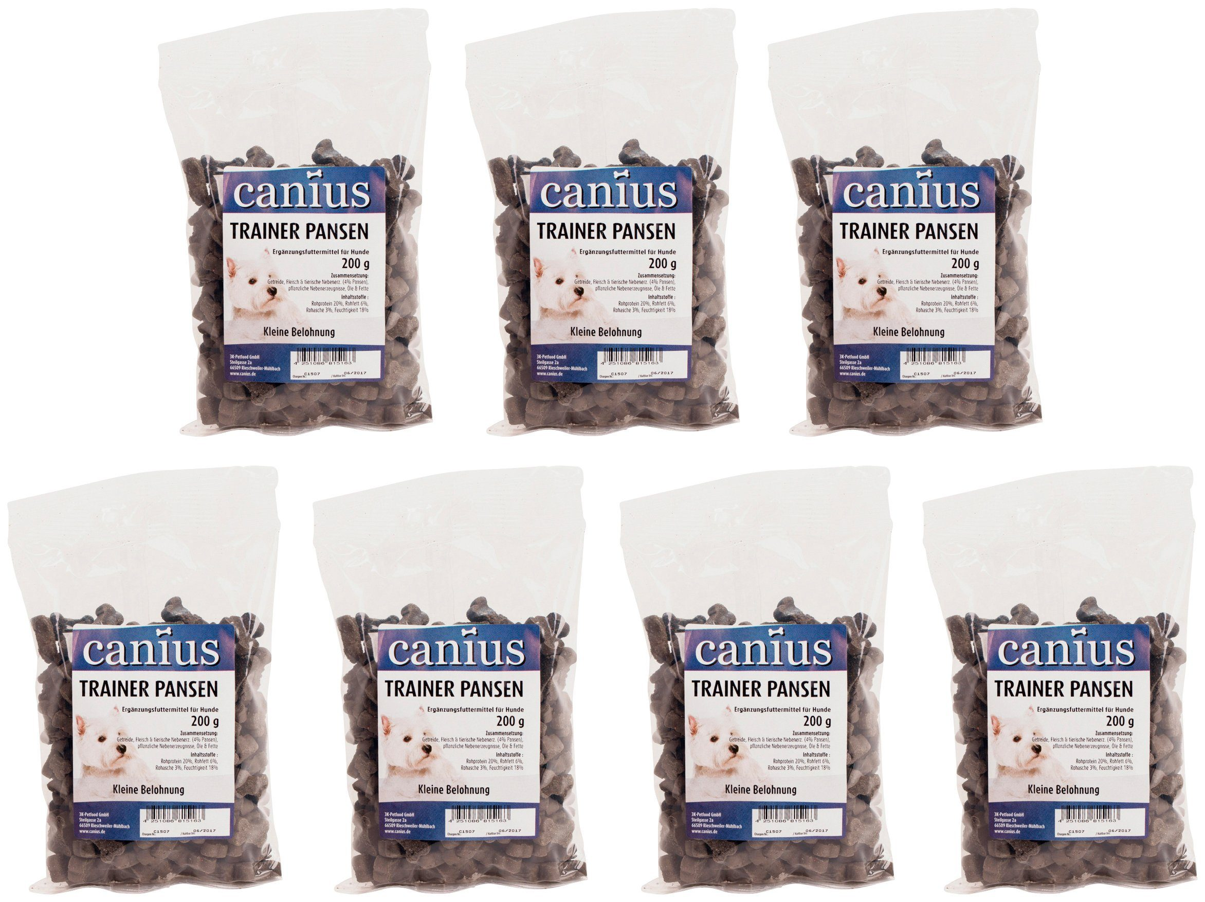 CANIUS Hundesnack »Trainer Pansen«, 7 x 200 g