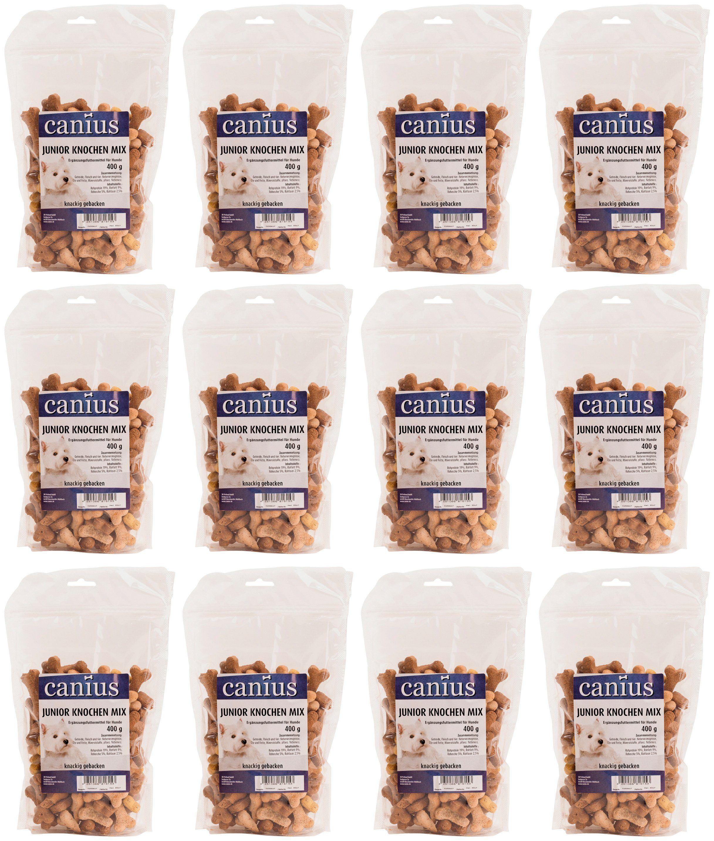 CANIUS Hundesnack »Junior Knochen Mix«, 12 x 400 g