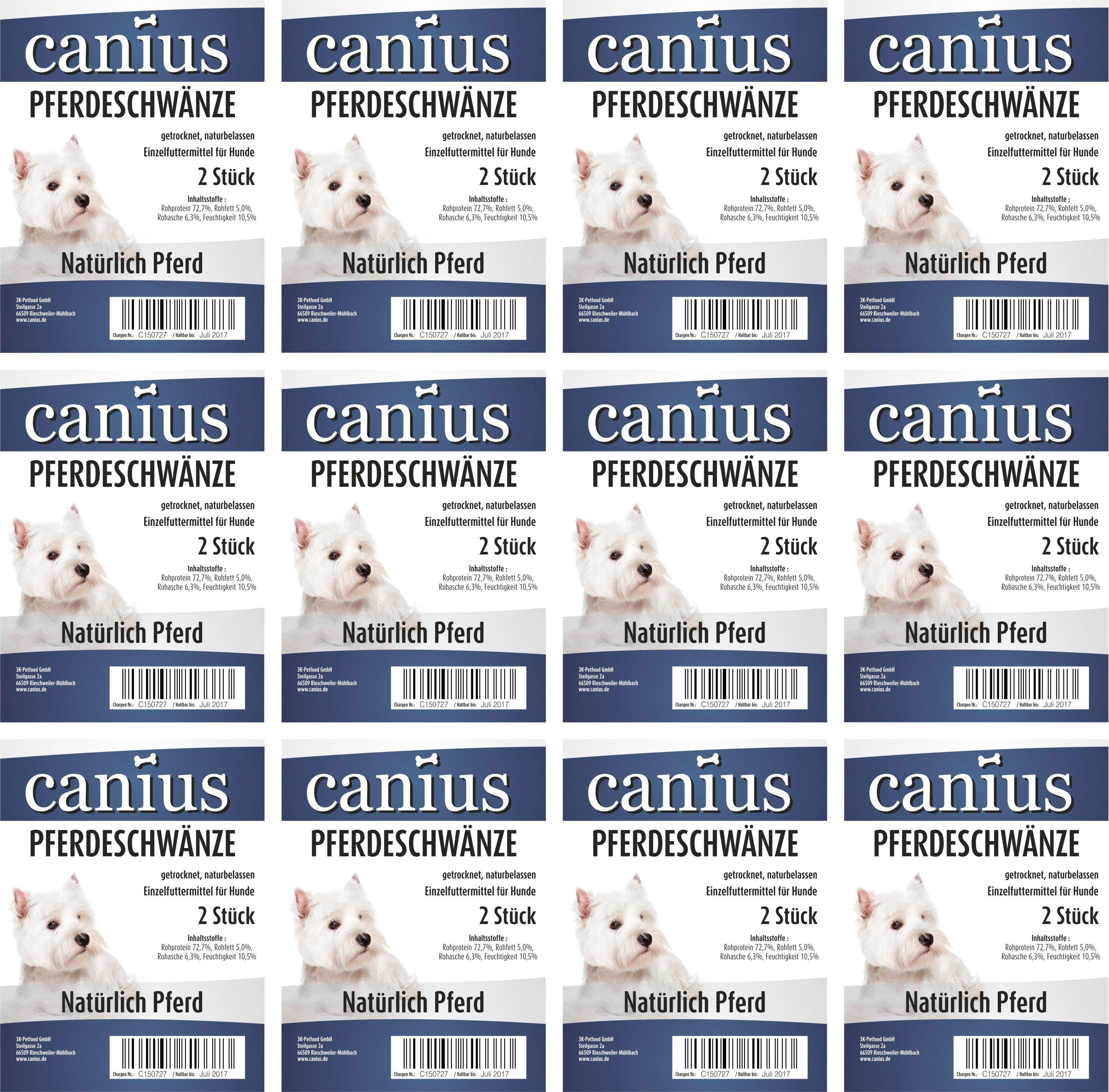 CANIUS Hundesnack »Pferde Schwänze«, 12 x 250 g