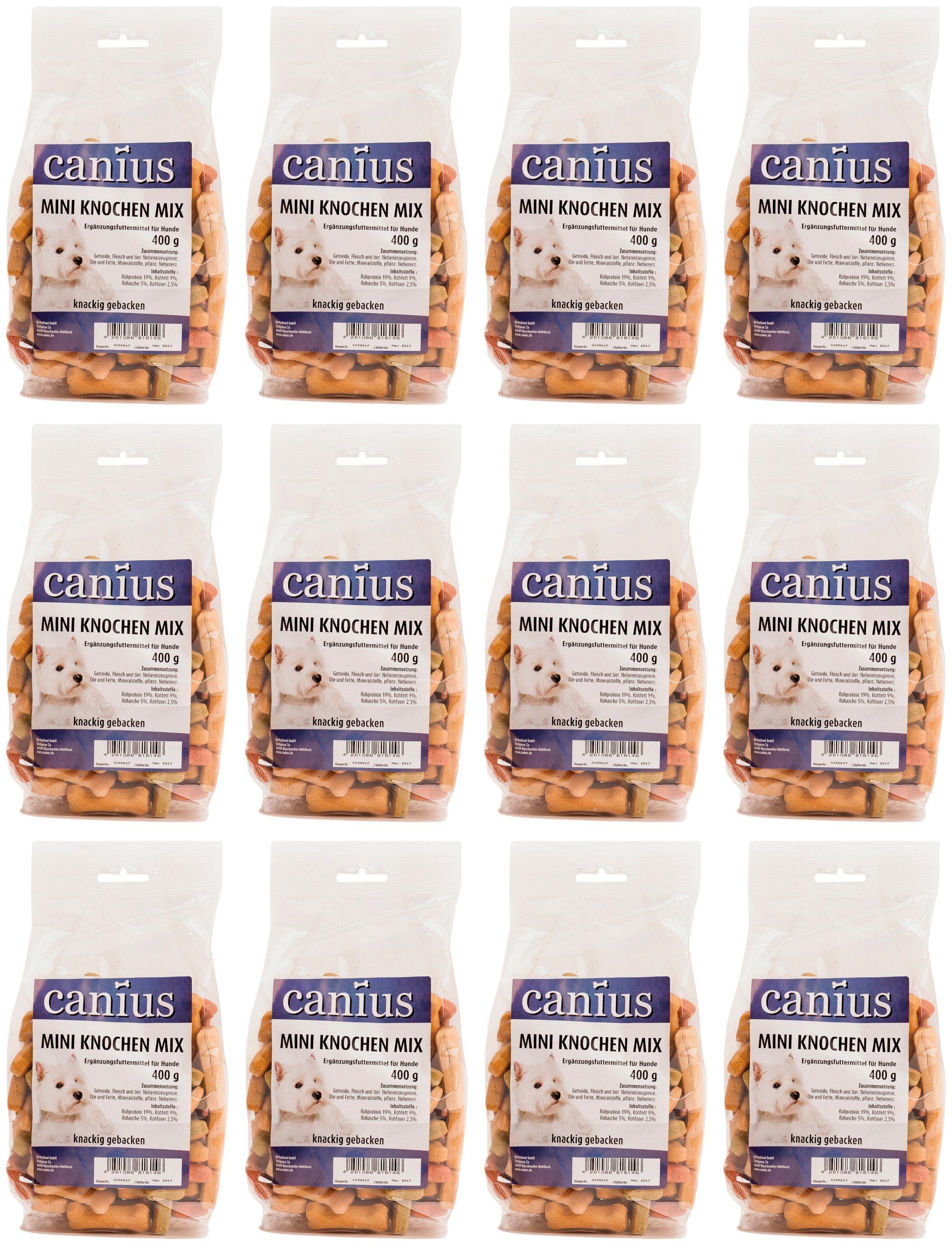 CANIUS Hundesnack »Mini Knochen Mix«, 12 x 400 g
