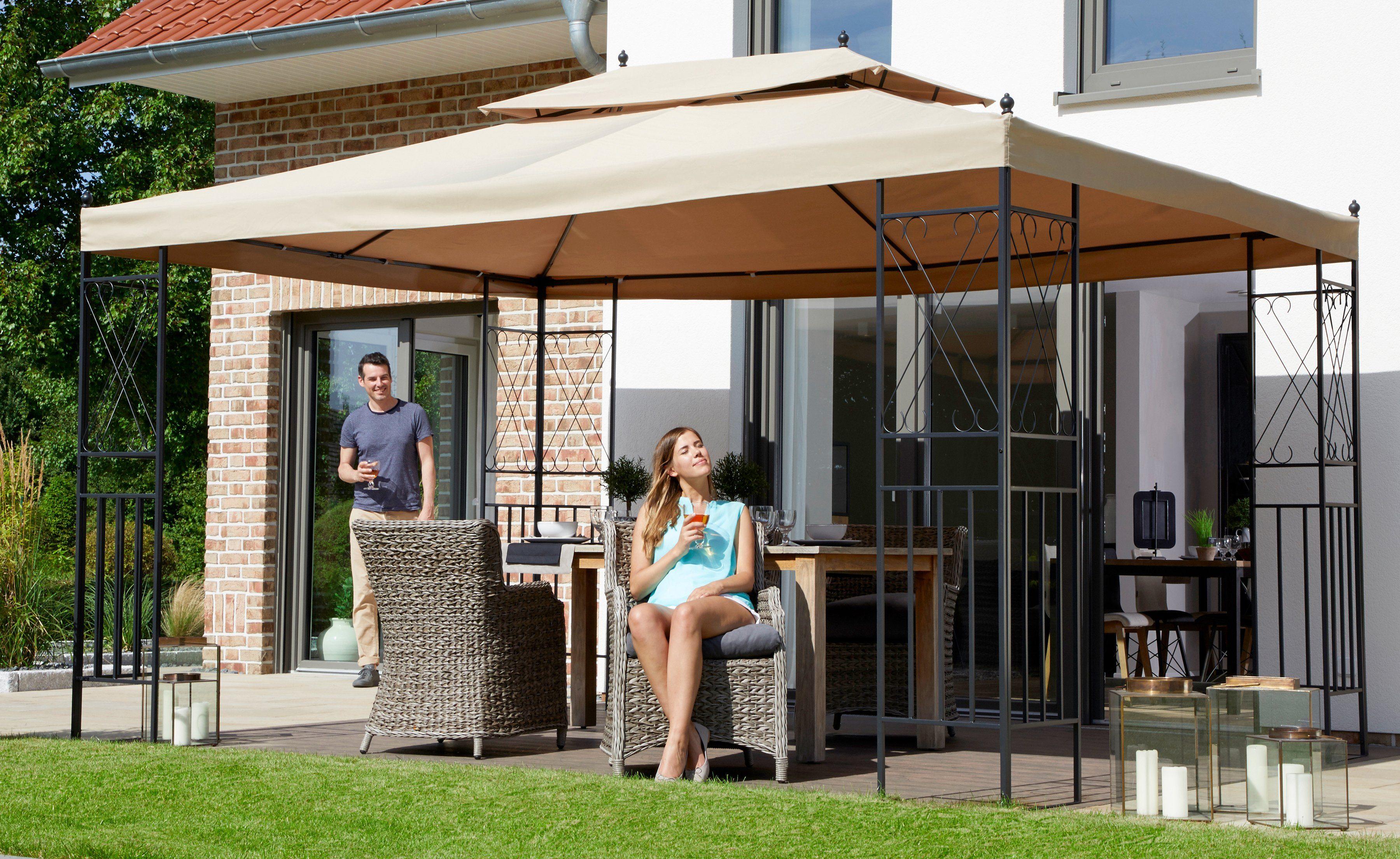 Pavillon »Royal«, BxL: 300x400 cm, sandfarben