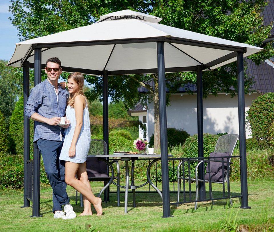 pavillon hexagon bxl 400x400 cm beige kaufen otto. Black Bedroom Furniture Sets. Home Design Ideas