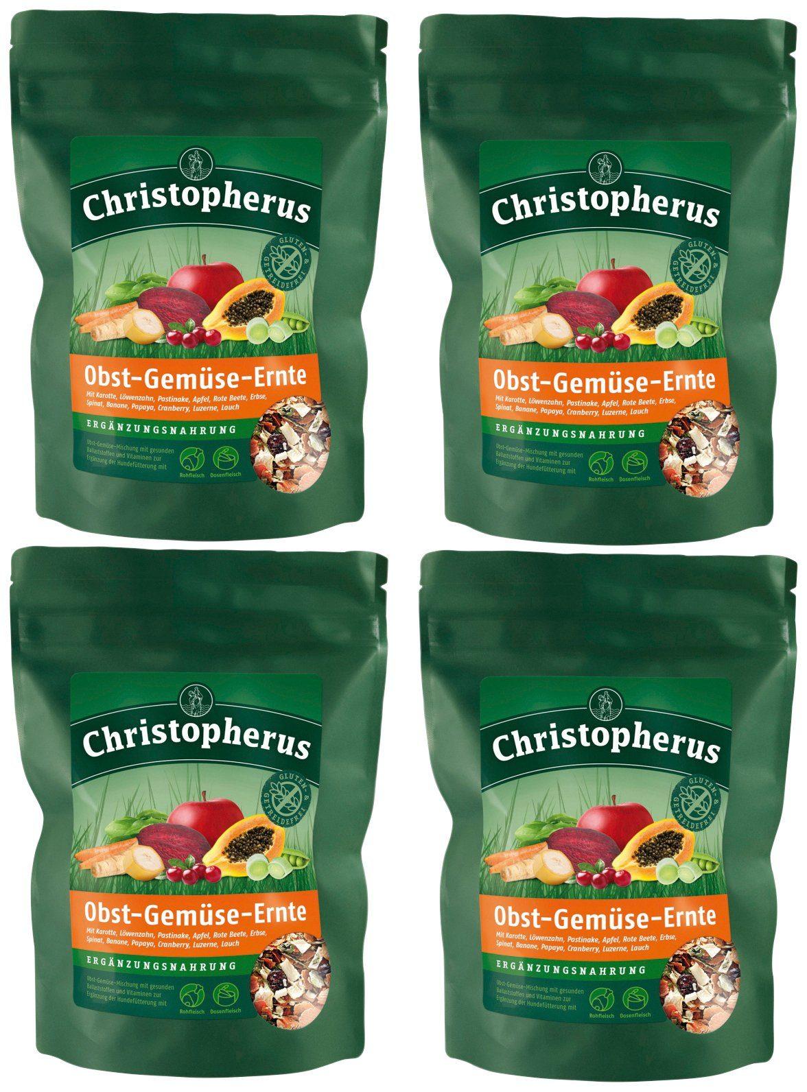 CHRISTOPHERUS Ergänzungsfutter »Obst Gemüse Mischung«, 4 x 1,25 kg