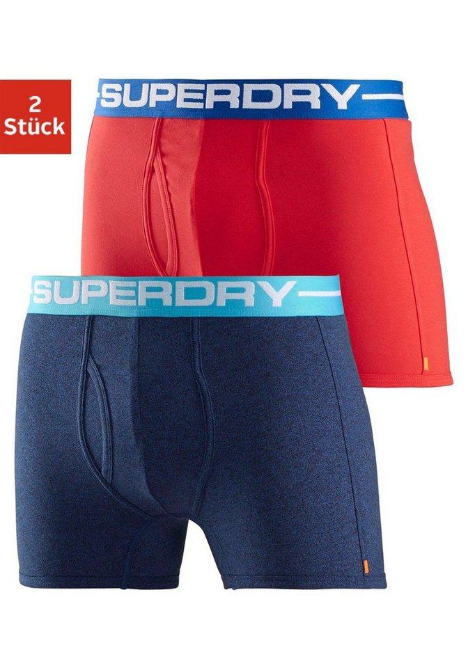 superdry boxer short sport 2 st ck mit kontrastbund. Black Bedroom Furniture Sets. Home Design Ideas