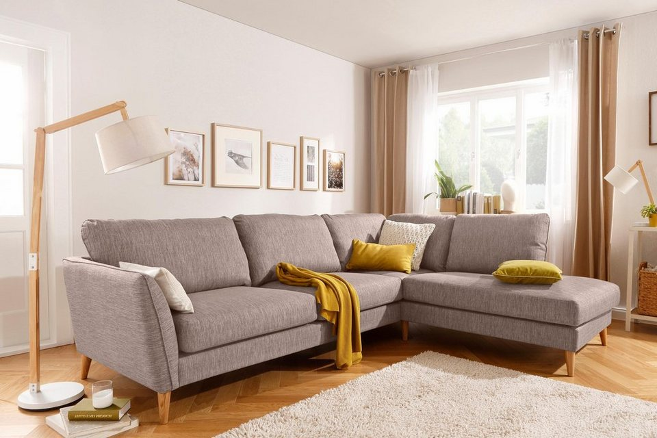home affaire ecksofa marseille skandinavischer stil 3 bezugsqualit ten mit holz beinen und. Black Bedroom Furniture Sets. Home Design Ideas
