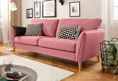 rosa schlafsofa best sitzer sofa mit und bettkasten in einer schnen rosa farbe rckenkissen und. Black Bedroom Furniture Sets. Home Design Ideas