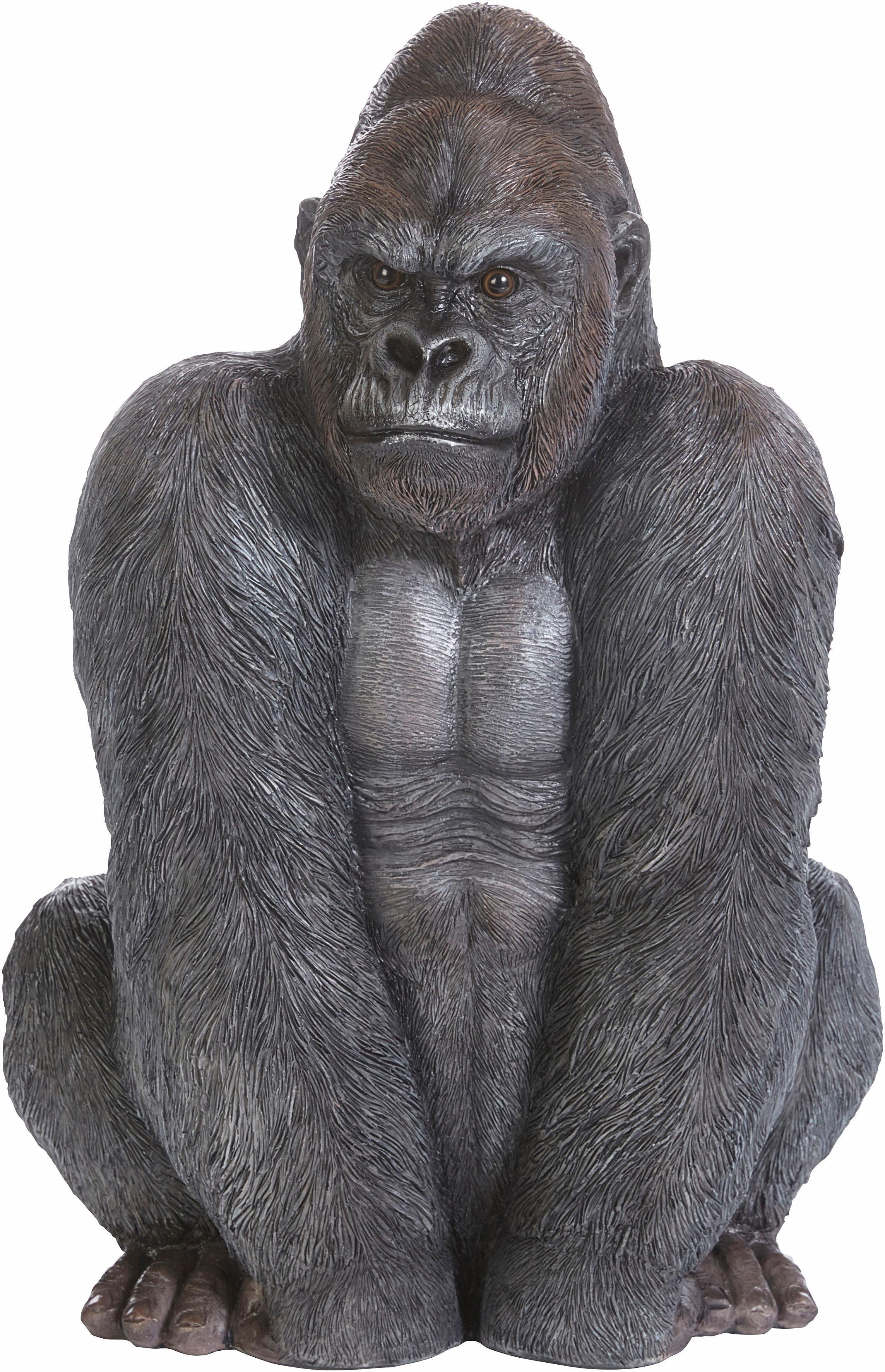 Home affaire Dekofigur »Gorilla sitzend, Höhe: 47 cm«