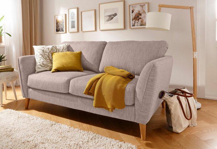 Home affaire 2-Sitzer »Marseille«, in skandinavischem Stil, in 3 Bezugsqualitäten, mit Holz-Beinen