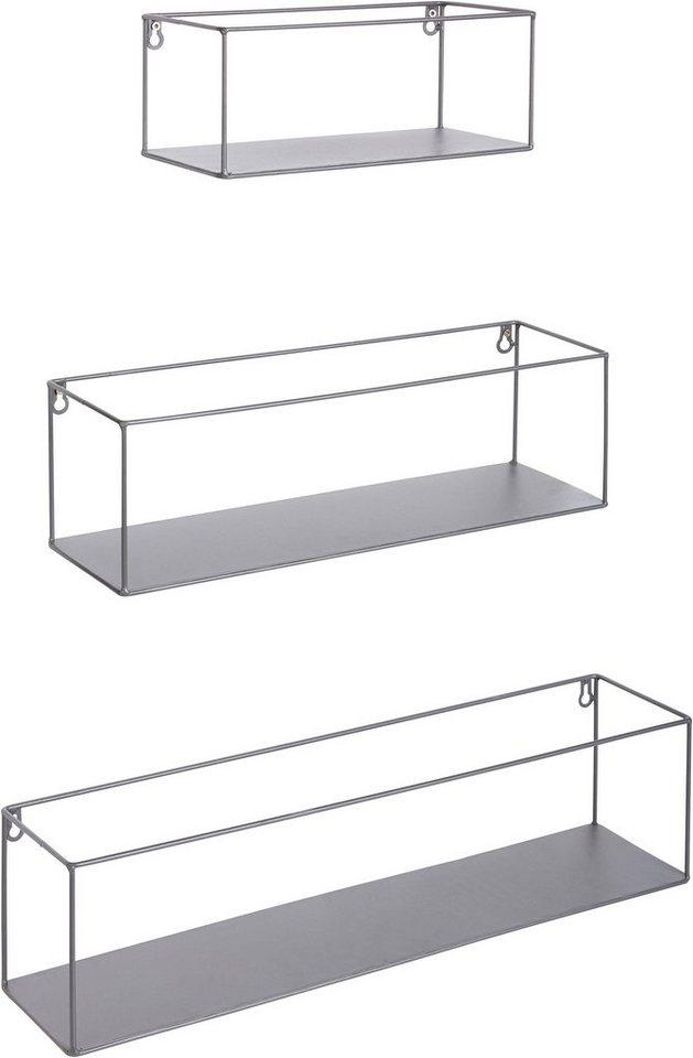 Andas metall wandregal 3er set online kaufen otto - Wandregal aus metall ...