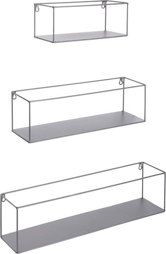 metall wandregal rechteckig lang 3er set kaufen otto. Black Bedroom Furniture Sets. Home Design Ideas