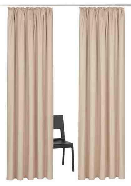 Vorhang »Parry«, Home affaire, Kräuselband (2 Stück)