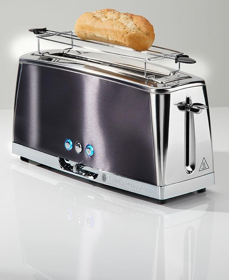 1420W Russell Hobbs Langschlitz Toaster Luna rot 23250-56 Schnell-Toast-Technologie 6 einstellbare Br/äunungsstufen Auftau- /& Aufw/ärmfunktion extra breite 1 Langschlitzkammer Br/ötchenaufsatz