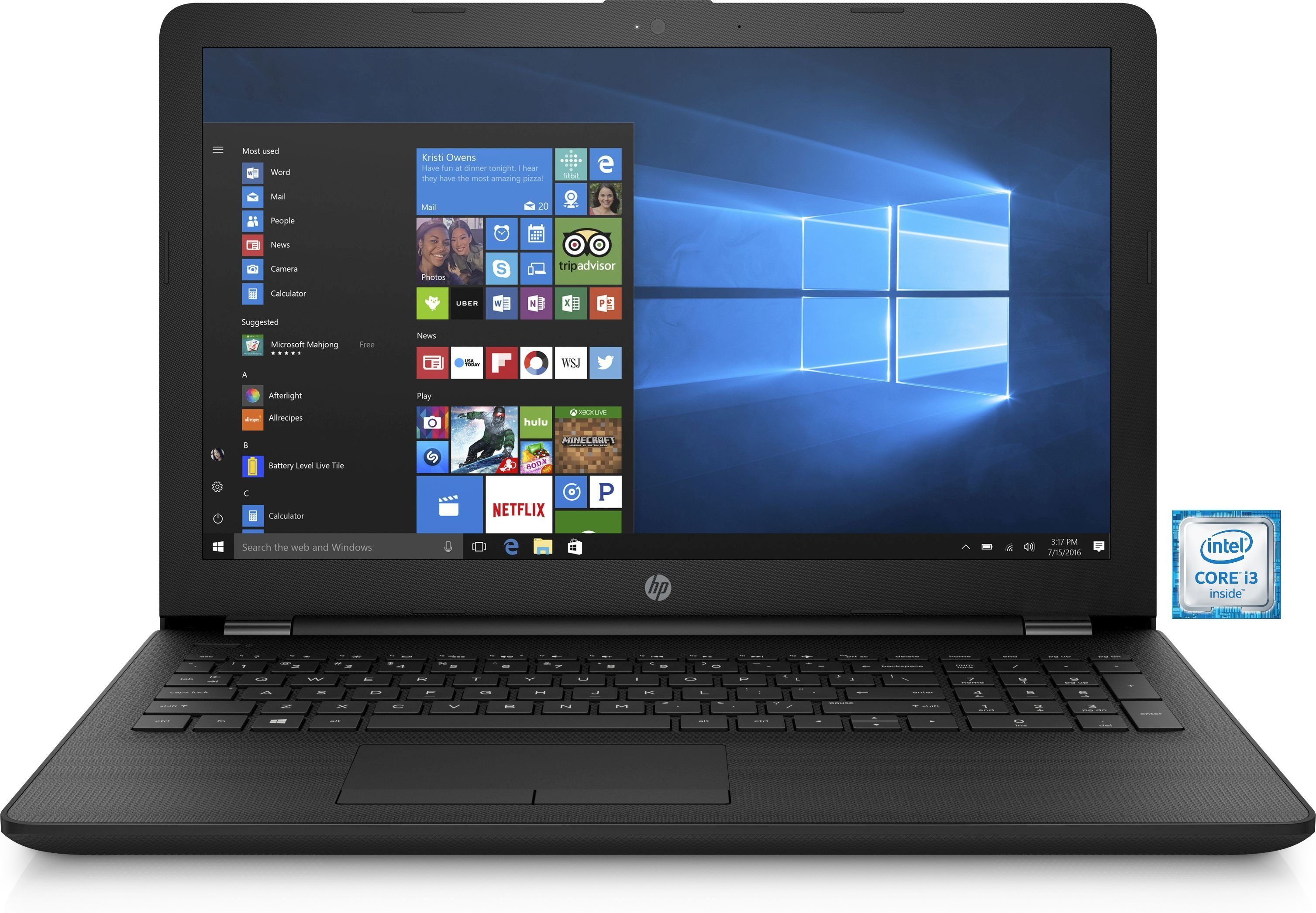 "HP 15-bs047ng Notebook »Intel Core i3, 39,6cm (15,6""), 128 GB + 1 TB, 8GB«"