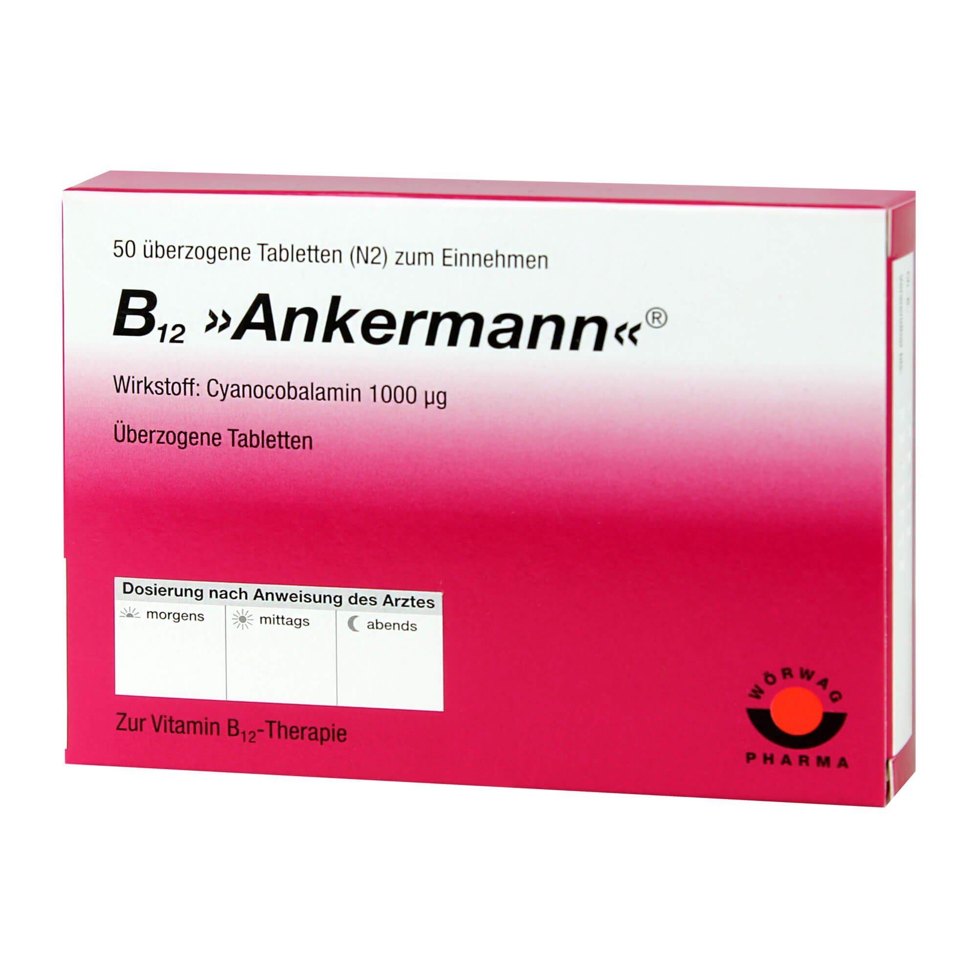 B12 Ankermann überzogene Tabletten , 50 St