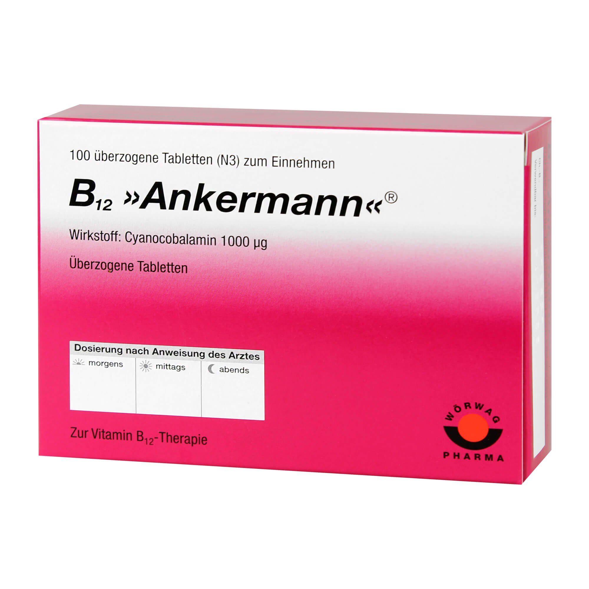 B12 Ankermann überzogene Tabletten , 100 St