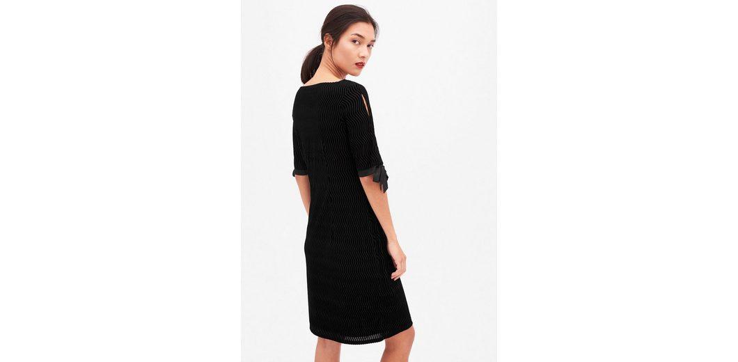 s.Oliver BLACK LABEL Edles Kleid mit Ausbrenner-Effekt Günstiger Preis Großhandel Billig Ausverkauf Günstig Kaufen Fabrikverkauf Sie Günstig Online CPQLRQ6ah5
