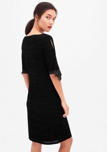 s.Oliver BLACK LABEL Edles Kleid mit Ausbrenner-Effekt