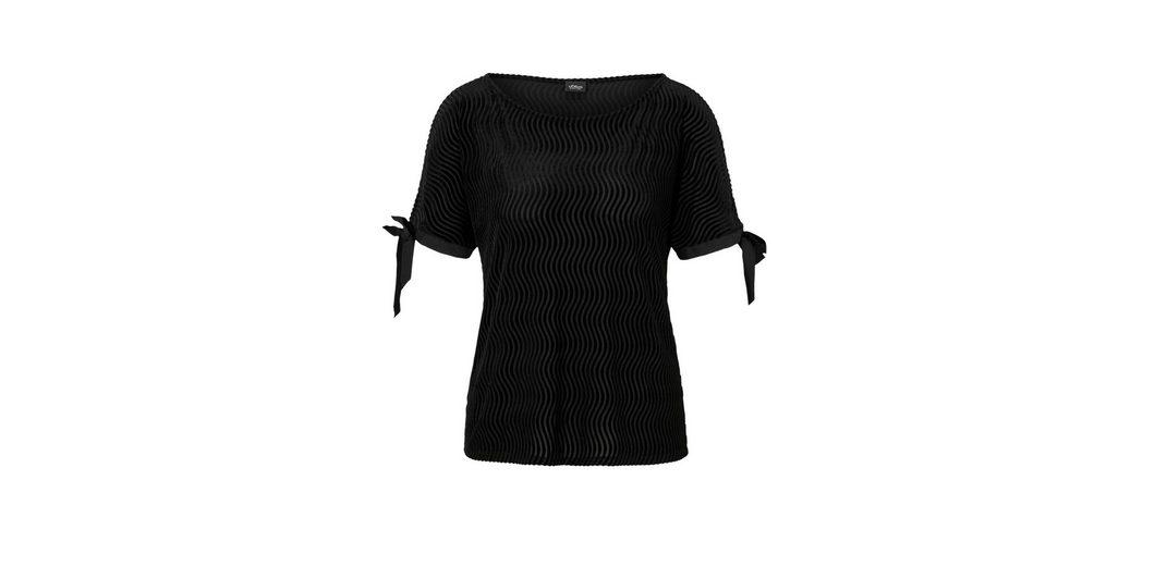 s.Oliver BLACK LABEL Edles Shirt in Ausbrenner-Optik Angebot Zum Verkauf Mehrfarbig Auslass-Websites Die Besten Preise Verkauf Online Erscheinungsdaten Online qjniAHd